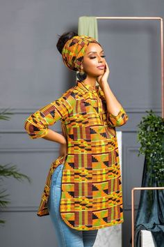 African Print Lacey Top – African Fashion Dresses - African Styles for Ladies African Fashion Ankara, African Inspired Fashion, African Fashion Designers, Latest African Fashion Dresses, African Print Fashion, Africa Fashion, Short African Dresses, African Print Dresses, African Attire