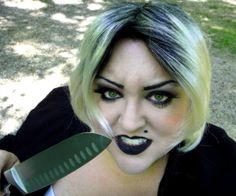 Bride of Chucky Halloween makeup ideas.