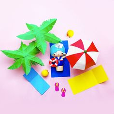 Marina by Momiji Paper Pool Party! Paper Craft Beach Momiji are message dolls. Inside each one there's a tiny folded card for your own secret message, dream or wish.