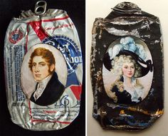 Historical Fine Oil Portraits on Crumpled Trash by Kim Alsbrooks  http://www.thisiscolossal.com/2014/06/historical-fine-oil-portraits-on-crumpled-trash-by-kim-alsbrooks/
