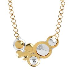 Robert Lee Morris Gold Tone Layered Circle Statement Necklace from Bijoux Closet