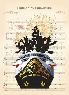 Disney Cruise Music Art Print