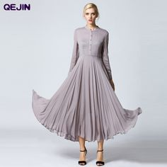 Find More Dresses Information about 2016 SUMMER LONG DRESS WOMEN PARTY NIGHT CLUB DRESS European STYLE PLEATED ELEGANT MAXI LONG SLEEVE GOWN DRESS PLUS SIZE S 3XL,High Quality dress coctail,China dress sweatshirt Suppliers, Cheap dress artist from Sharewin Fashion(QEJIN) Co.,ltd on Aliexpress.com
