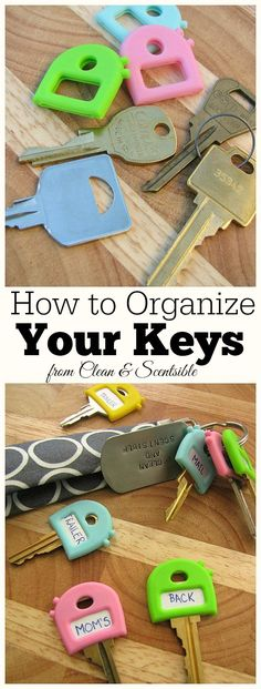 Cute way to organize your keys! // cleanandscentsible.com