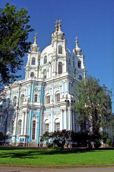 Smolny Monastery St. Petersburg / Russia