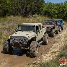 Check out this line up hitting the trails. #jk #jeep #jeeps #trails #metalcloak #JEEPFLOW