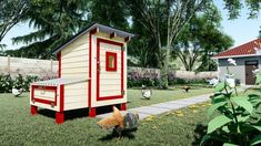 Raise your own Cluck Norris and Yolko-Ono 15 DIY Chicken coop plans Have your own farm fresh eggs Every. by Easy Coops™ Walk In Chicken Coop, Backyard Chicken Coop Plans, Chickens Backyard, Keeping Chickens, Raising Chickens, Frizzle Chickens, Farm Plans, Urban Chickens, Chicken Breeds