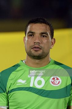 Tunisia's goalkeeper Aymen Mathlouthi poses ahead of the 2015 African Cup of Nations group B football match between Tunisia and Cape Verde in Ebebiyin on January 18, 2015.