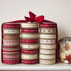 Merry Christmas Ribbon Craft Xmas Gift Wrapping Ribbons 1 /& 3 Metre Lengths