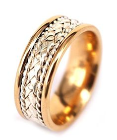 Titanium Weave Design 8mm Wedding Band Fine Jewelry Ideal Gifts For Women