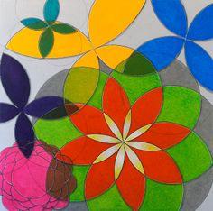 """Quim Alcantara """"Medra Mesura"""" Acrílica sobre tela, janeiro 2014, 80 x 80 cm http://quim.com.br/medra-mesura/  Pintura geométrica abstrata do artista brasileiro Quim Alcantara"""