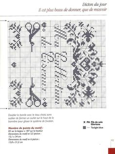 Scissor Collection part 1 Au fil du Temps Book Sewing Spaces, Sewing Rooms, Blackwork Cross Stitch, Cross Stitching, Cross Stitch Designs, Cross Stitch Patterns, Sewing Room Decor, Needle Book, Needle Case