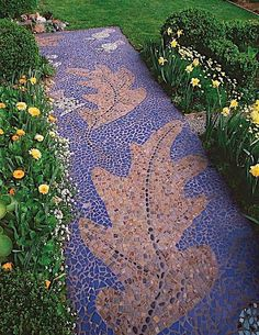I think this mosaic path by Michelle Derviss is beautiful.    If you like it, don't forget to share it too.