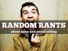 """Random Rants about Sales"" - A Haiku Deck by Barbara Giamanco"