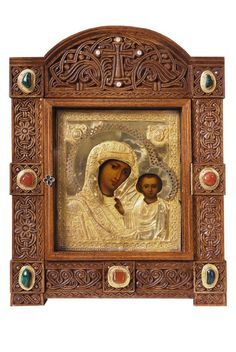 Icon Case (Kiot) from the Workshop of St. Elisabeth Convent - #sanctuaryitems #order #delivery #purchase #orthodox #christian #orthodoxy #workshop #iconcase #icons