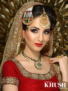 100 Most Beautiful Indian Bridal Makeup Looks - Dulhan Images Bridal Makeup Looks, Indian Bridal Makeup, Asian Bridal, Bridal Hair And Makeup, Bride Makeup, Bridal Bun, Wedding Makeup, Indian Wedding Photos, Indian Wedding Photographer