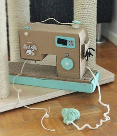 """Less the scratching pad and post, this will be a terrific first """"sewing machine"""" for granddaughter!"""