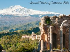 Italy's Ancient Theatre of Taormina is the top attraction for sightseers in Taormina, and it's easy to see why! Its natural setting and views of Mount Etna and the coast make it an essential tourism stop. Dating back to the third century, BC, the theater's construction required the extraction of 100,000 cubic meters of rock from the mountain. It is still used for theater, opera, and music performances.
