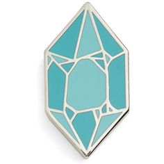 Big Bud Press 'Gem' Pin ($15) ❤ liked on Polyvore featuring jewelry, brooches, turquoise gem, gem jewelry, pin jewelry, pin brooch, gemstone jewelry and gemstone jewellery