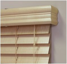 wood valance with blinds