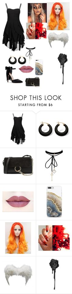 """Spit Fire"" by kitsune-6665 ❤ liked on Polyvore featuring Palm Beach Jewelry, Chloé, WithChic and Nanette Lepore"