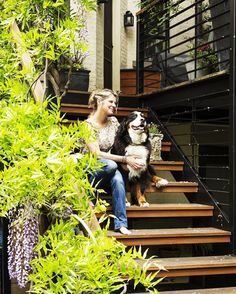 Entry Stair of Park Slope Garden by Kim Hoyt Architect, Gardenista
