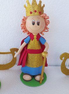 Marcia Artes em EVA - Boneco Rei Davi para decoração