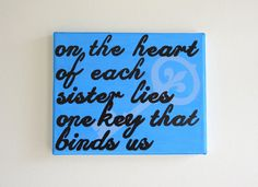 "hand painted Kappa Kappa Gamma neon ""one key"" 8x10 canvas OFFICIAL LICENSED PRODUCT"