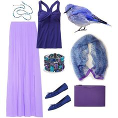 """""""Purple and Blue"""" by princessbluebird-1 on Polyvore"""