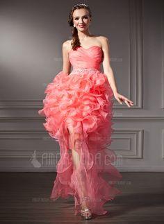 Forme Princesse Bustier en coeur Traéne asymétrique Organza Robe bal d'étudiant avec Emperler Robe à volants (018021091) $245.03 #wedding #princesse #my wedding #en #emperler #organza #volants #à #traéne #avec #bal #bridal gown #asymétrique #robe #coeur #bridal #wedding dress #forme #(018021091) #bustier #d'étudiant