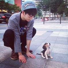 Aron and new friend