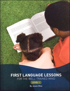 First Language Lessons Level 1 (grammar) - solid introduction to basic grammar - 100 short lessons span the year, we use it about three times a week
