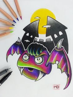 #pipistrello #Halloween #vampiro #vampire #cartoon #sketch #sketchcartoon #flash #drawing #illustrationi #disegni #arte #flashtattoo #illustrationitattuaggi #tattoo #tatuaggi #mrjacktattoo
