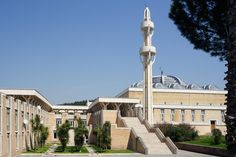 Mosque and Islamic Cultural Center, Rome, designed 1974, completed 1994 / Paolo Portoghesi