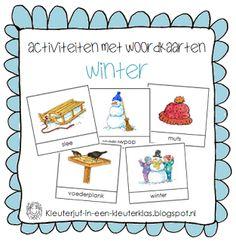 Activiteiten met woordkaarten | Thema WINTER