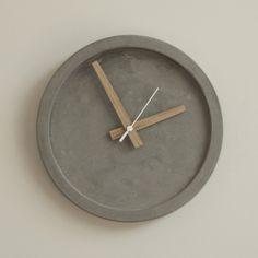 Concrete Wall Clock - Grey – DECORUM
