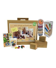 Block & Dough Set by eco-kids