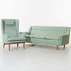 Soffa samt fåtölj, Dux