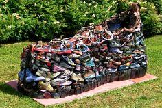 Shoes sculpture