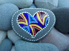 Circle of Love / painted rocks / Sandi Pike by LoveFromCapeCod