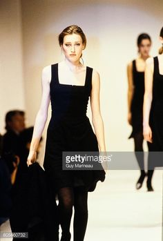Model walks the Helmut Lang Fall 1987 RTW collection. (Photo byGuy Marineau/Condé Nast via Getty Images)Marie-Sophie Wilson
