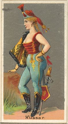 Hussar, from the Occupations for Women series for Old Judge and Dogs Head Cigarettes