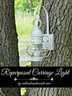 Give an old light fixture new life with this awesomely easy repurposed project!