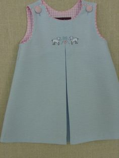 Little Lambs Pleat Dress by tookietots on Etsy, $20.00