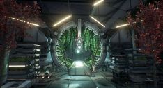 A sci-fi cultivation room i created for my final school project with Unreal Engine Lighting was done by Miguel Hernandez. Spaceship Interior, Futuristic Interior, Spaceship Design, Futuristic Art, Fantasy Places, Sci Fi Fantasy, Environment Concept Art, Fantasy Landscape, Art Challenge
