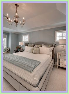 master bedroom gray bedding-#master #bedroom #gray #bedding Please Click Link To Find More Reference,,, ENJOY!! Blue Master Bedroom, Blue Gray Bedroom, Master Bedroom Design, Bedroom Sets, Modern Bedroom, Bedroom Decor, Master Suite, Blue Bedrooms, Silver Bedroom