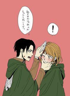 Armin, Eren Y Levi, Attack On Titan Funny, Attack On Titan Ships, Attack On Titan Fanart, Levi X Petra, Oc Manga, Manga Anime, Snk Annie