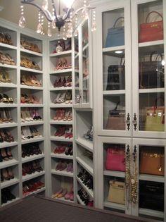 shoe and purse closet