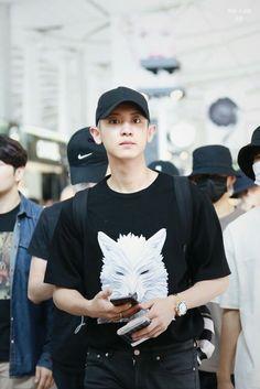"fyeah-chanyeol: """"© make-a-wish"" "" Park Chanyeol Exo, Kpop Exo, Kyungsoo, Chanbaek, Chansoo, Wolf T Shirt, Kpop Fashion, Airport Fashion, Exo Members"