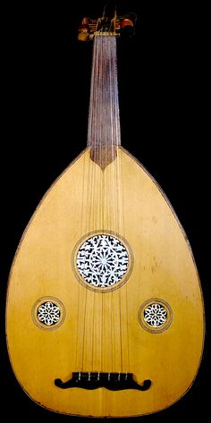 The oud is the tear-drop short necked lute of the Arab World and Persia. The oud is said to have had celestial origins, and was bestowed on mortals, which is probably why it is one of the few musical instruments tolerated by the Islamic faith. It is also said to have great magical powers to heal the sick and infirm. The ud originated in ancient Persia, and is now played throughout the Arab world, where it is considered as the greatest of instruments